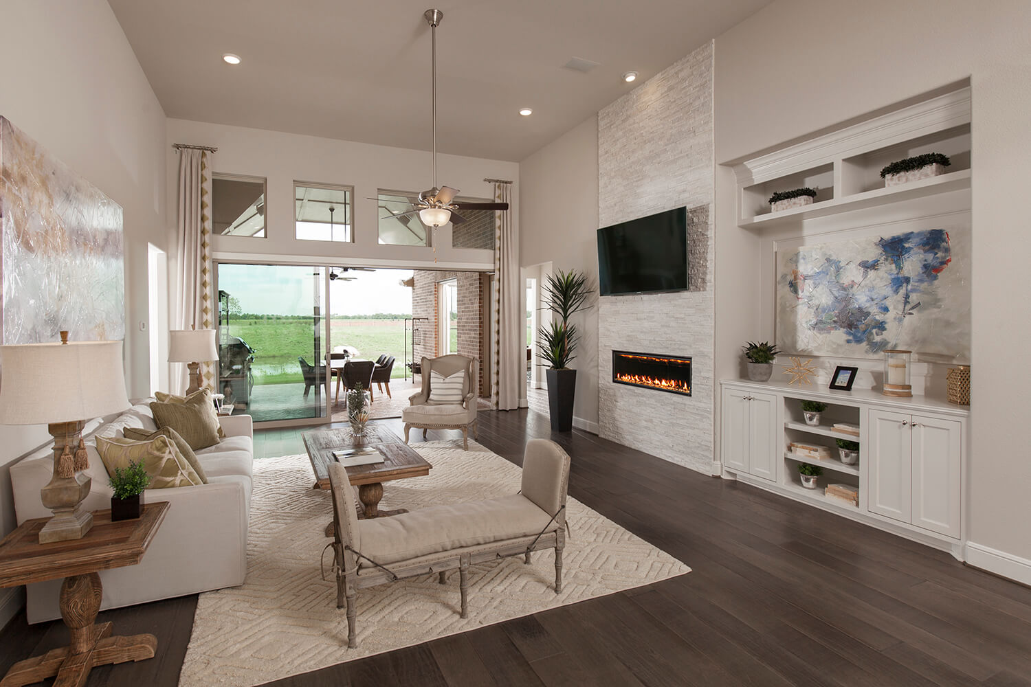 Family Room - The Tomball (6876 Plan)