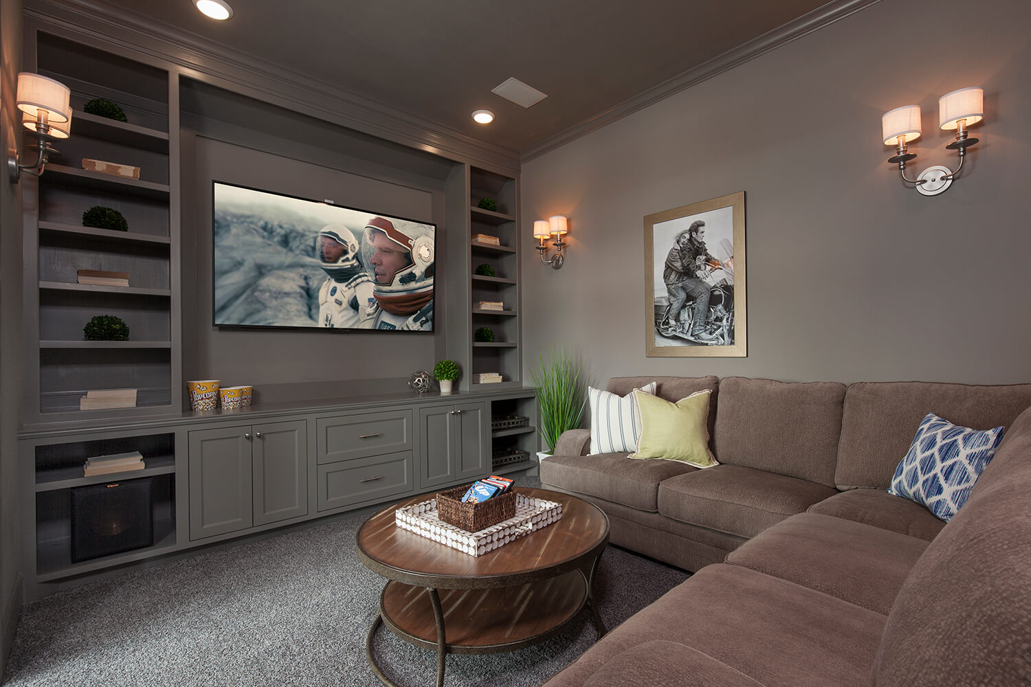 Media Room - The Tomball (6876 Plan)