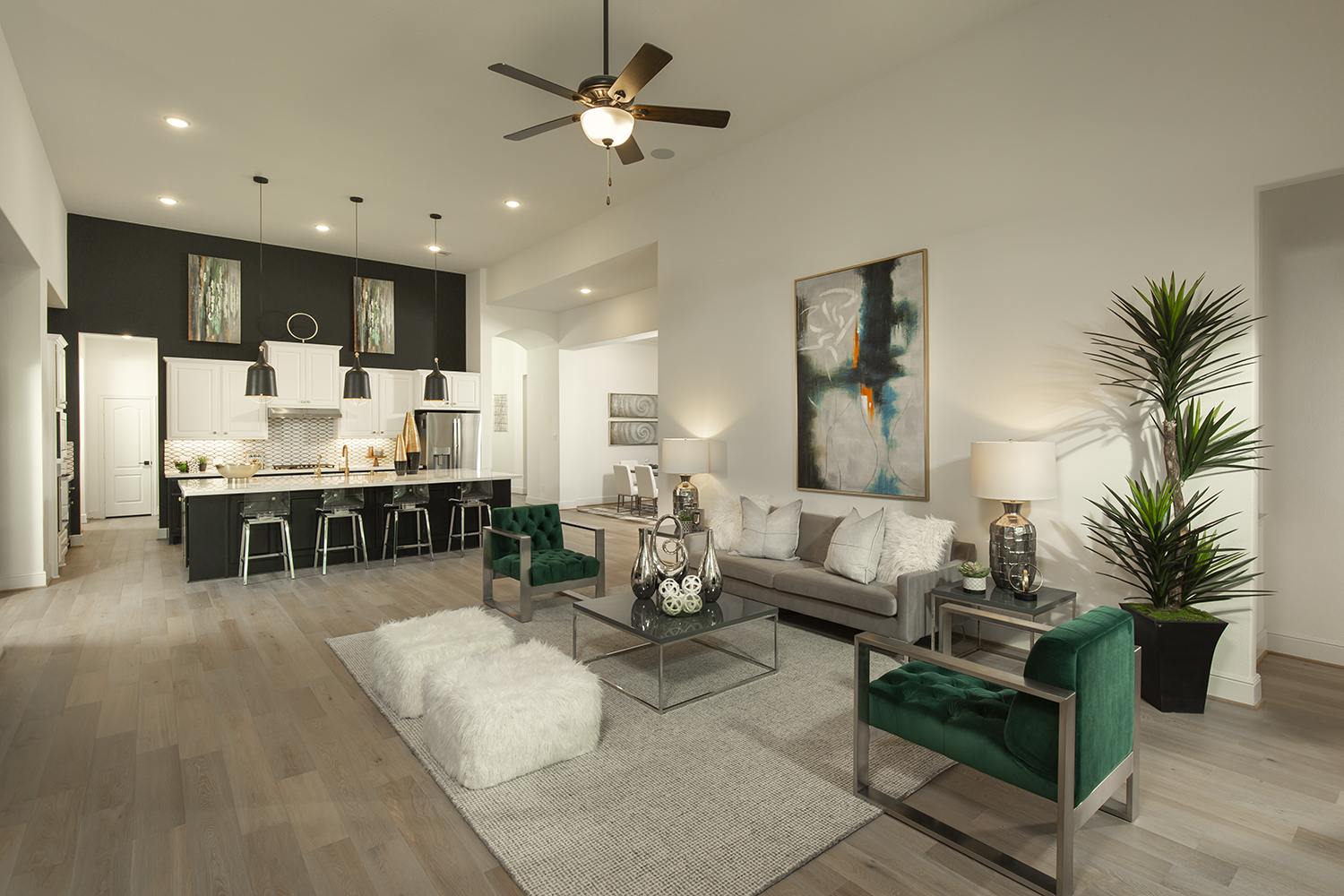 Living Room - The Tomball (6876 Plan)