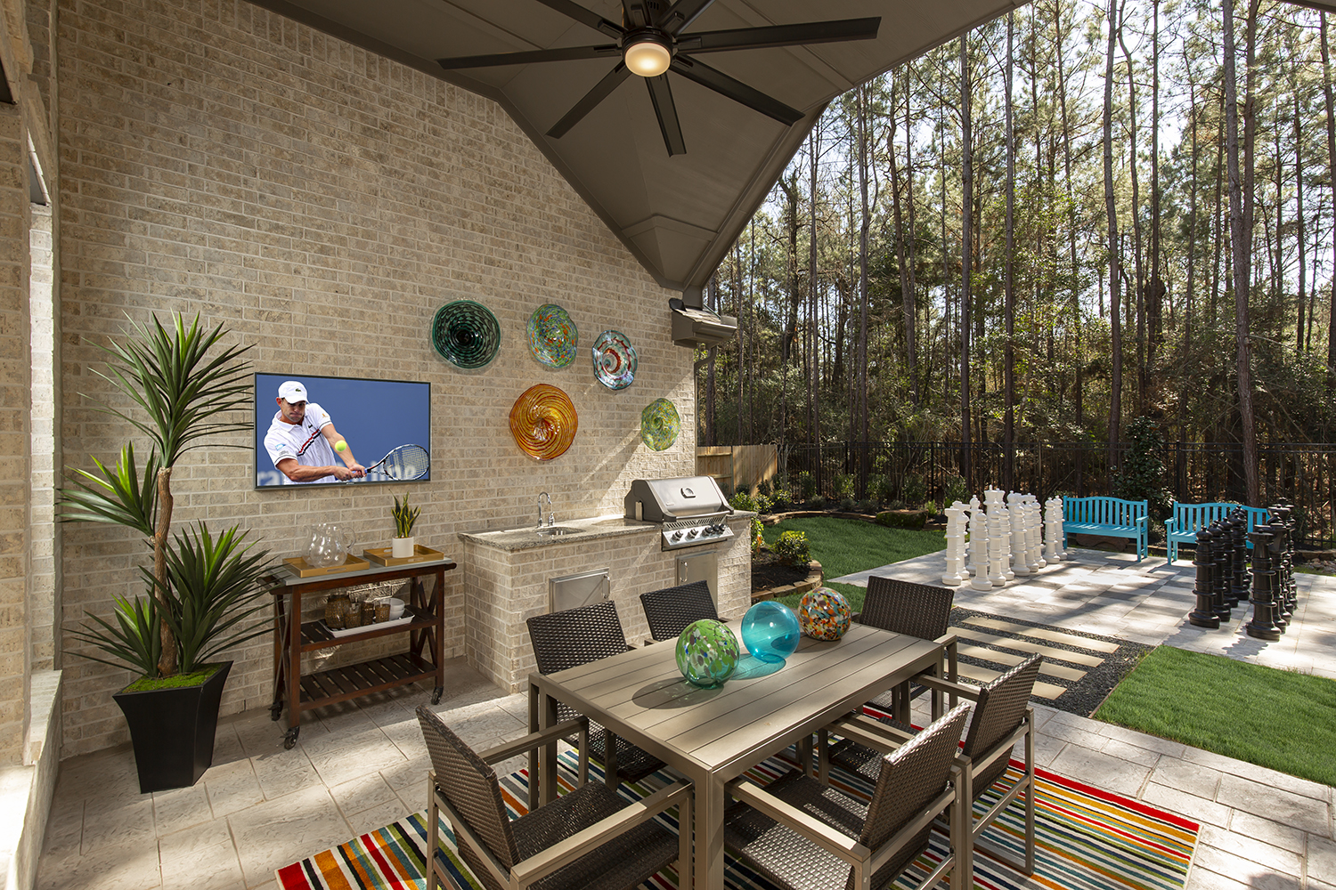 Patio - The Tomball (6876 Plan)