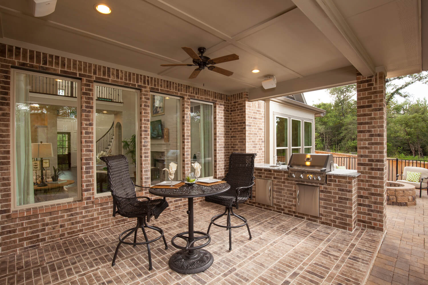 Covered Patio/Outdoor Kitchen - The Anahuac (7312 Plan)