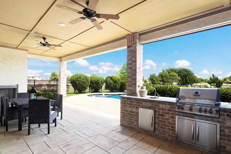 Outdoor Kitchen - The Wharton IV (7297 Plan)